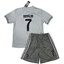 97644bbdb2e VVBSoccerStore New  7 Ronaldo 2018 2019 Juventus Away Jersey   Shorts for  Kids Youths