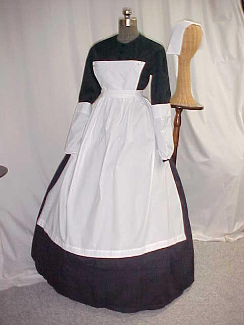 civil war nurse costume set, the way the apron attaches screams ...