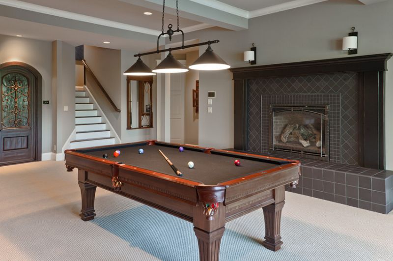 20 awesome pool table lighting pool table basements and lights 20 awesome pool table lighting greentooth Images