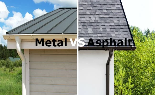 What S The Difference Metal Roofs Vs Asphalt Shingles In 2020 Metal Roof Over Shingles Metal Roof Cost Metal Roof Houses