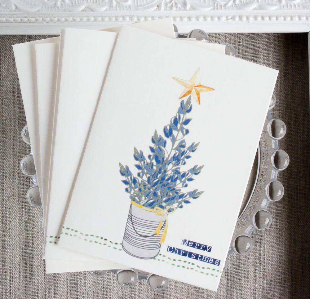 Texas Bluebonnet Christmas Cards - Wildflower Holiday cards - Texas ...