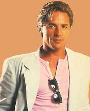 Don Johnson. Never has suit jackets over tee-shirts been so stylish...loved him better as Nash Bridges