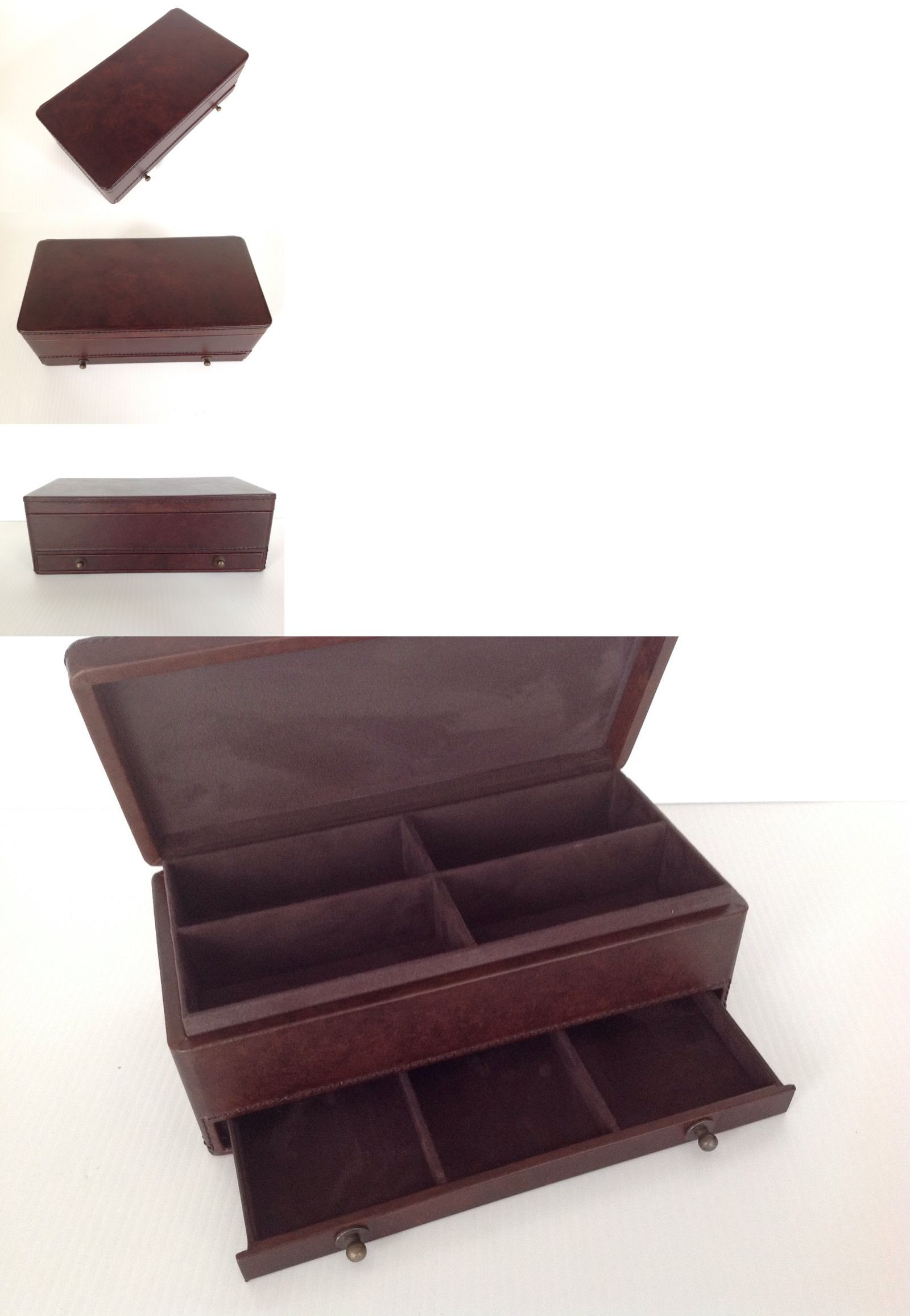 Jewelry Boxes 3820 Pottery Barn Saddle Leather Valet Chocolate