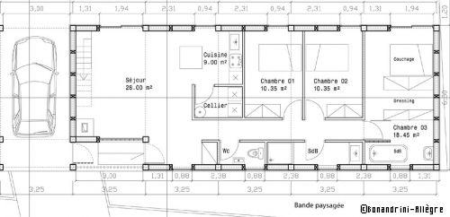 Plan De Maison La Longere En Bois Repond A Toutes Les Attentes D Un Jeune Couple Plan Maison Plan De Maison Longere Et Plan De Maison En Longueur