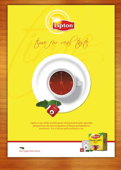 Lipton Tea Artwork by Ahsan Chaudhry, via Behance