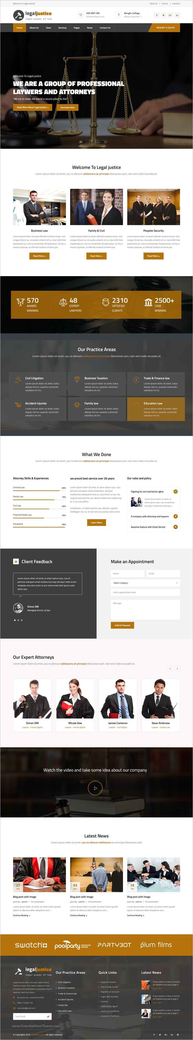 Legal Justice Template for Lawyers Attorneys