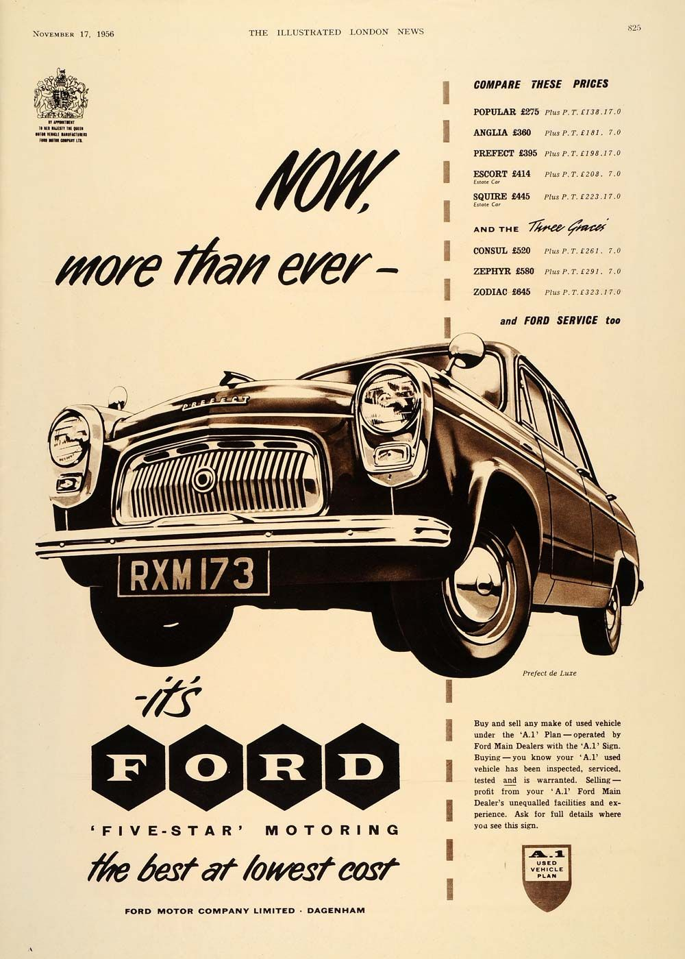 1956 Ad British Ford Perfect De Luxe Automobile Vieille Publicite Ford Pub Voiture