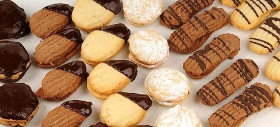 Masitas secas Masas y galletitas de manteca hechas con manga