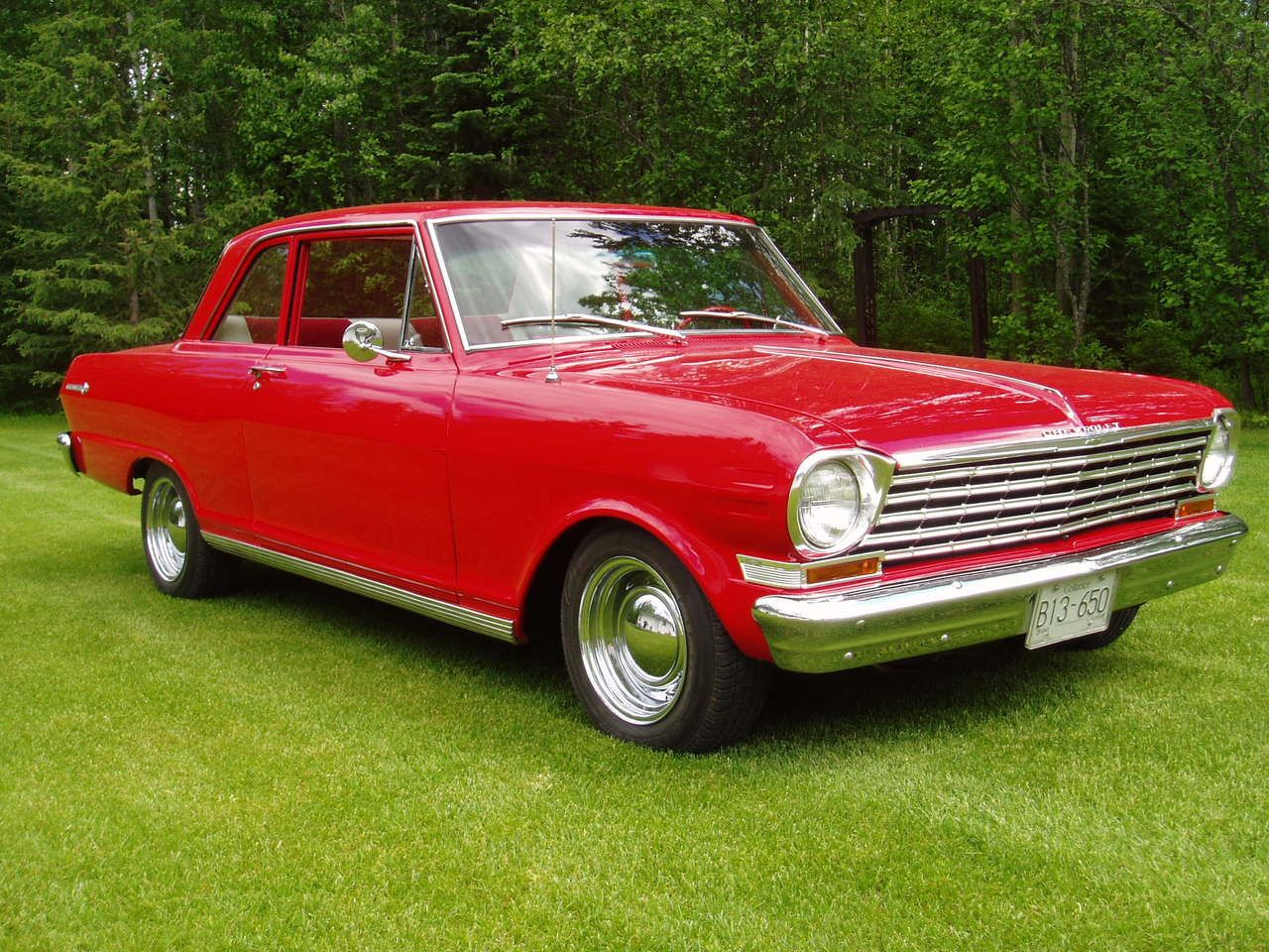 1963 Chevy Nova. Looks just like mine. 33 mpg, standard transmission ...