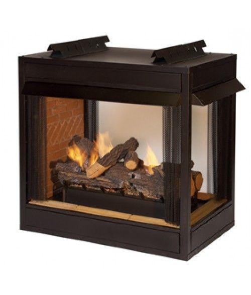 Empire Breckenridge Vent Free Peninsula Premium Firebox