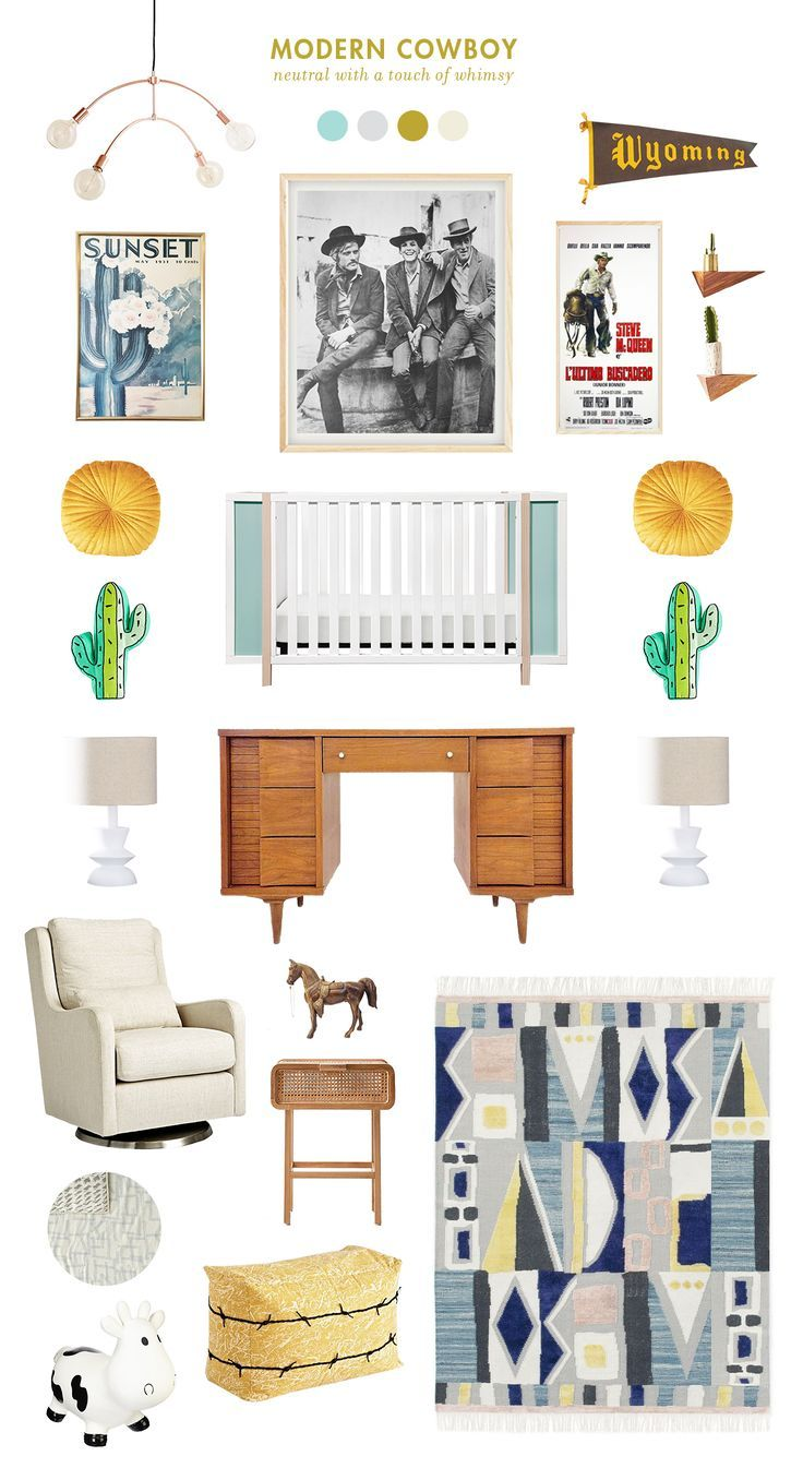 Modern Cowboy Baby Room Ideas images