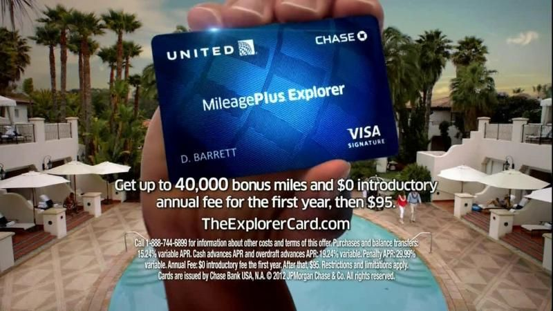 united chase explorer card | Chase United MileagePlus Explorer Card TV Commercial - iSpot.tv