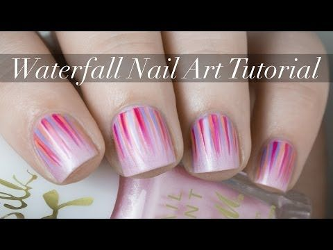 Waterfall Nail Art Tutorial Video The Nailasaurus Art Tutorials