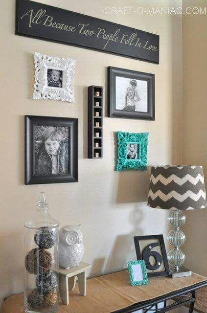 038 Teal Wall Decor Chevron Home Diy Nook