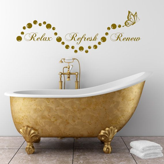 Relax Bathroom Bubbles En Suite Wall Art Sticker Quote Decal Stencil