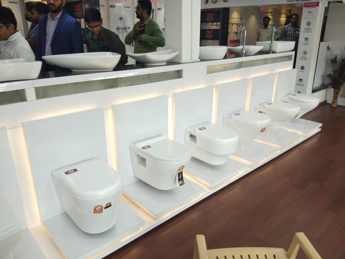 Varmora Continues To Display Its Dominance In Gujarat With The Opening Of Its 130th Sanitary Ware Store Sh Bathroom Showrooms Showroom Design Retail Shelving