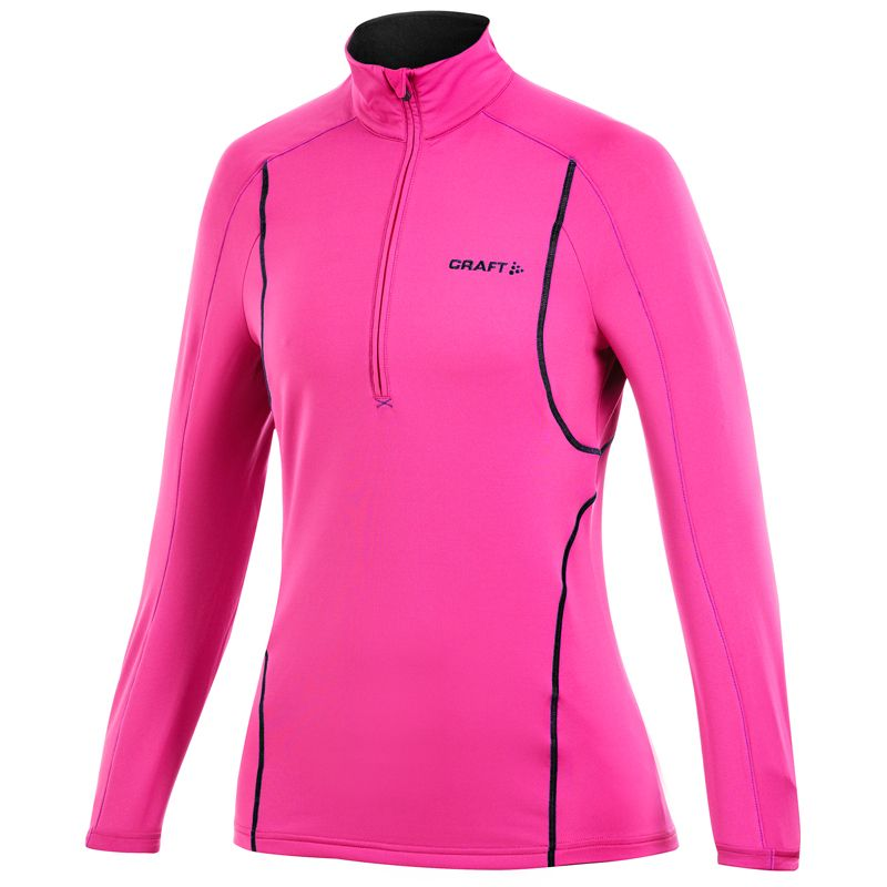 31f60216e45 Nieuw: Craft shirt lange mouw Stretch Pullover roze dames te bestellen bij  Hardloopaanbiedingen.nl #Craft #hardlopen