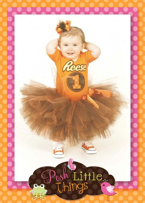Reese's Peanut Butter cups Birthday outfit, birthday shirt, tutu, custom, embroidery, applique