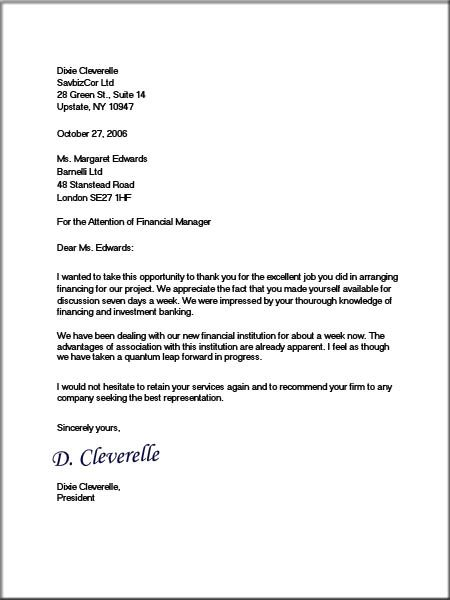 Printable Sample Proper Business Letter Format Form Real Estate - commitment letter