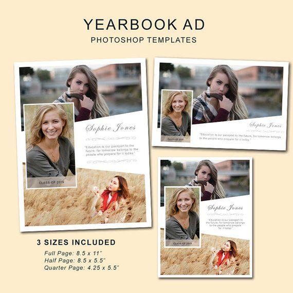 Senior Yearbook Ads Photoshop Templates Graduation Ad