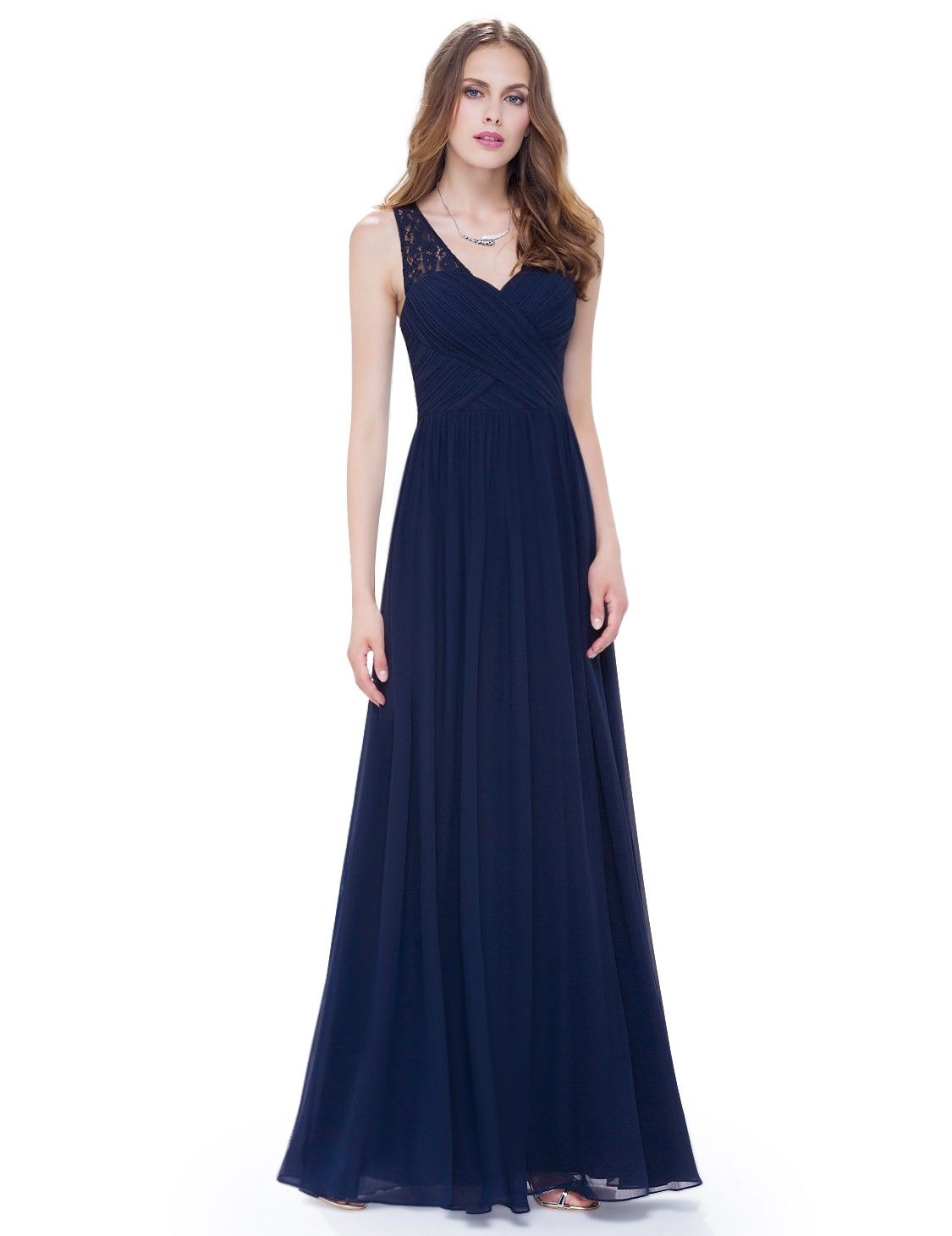 V Ausschnitt Abendkleid Virgenie Dunkelblau | ball | Pinterest ...