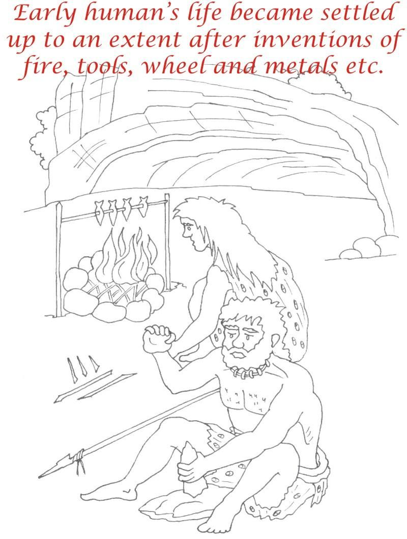 Early Humans Printable Coloring Page For Kids 15 Coloring Pages