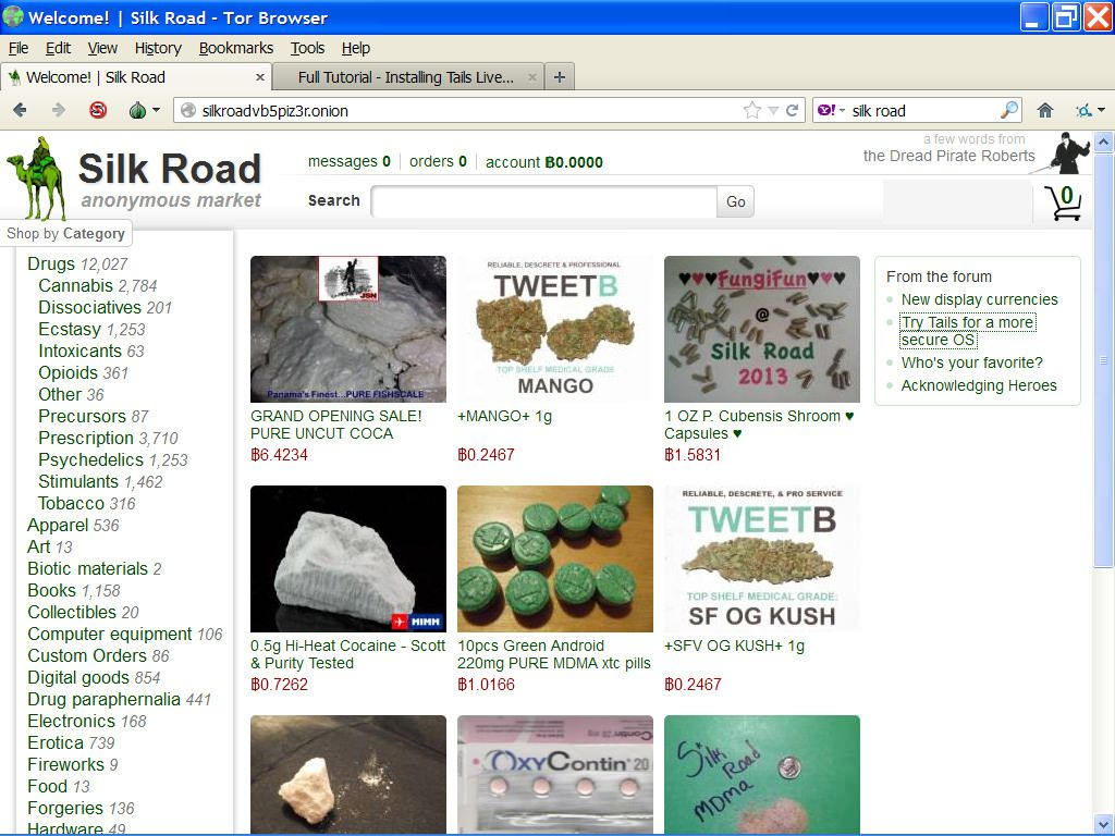 Silk-Road viewed through the Tor Browser | Dysfunctional stuff | Tor