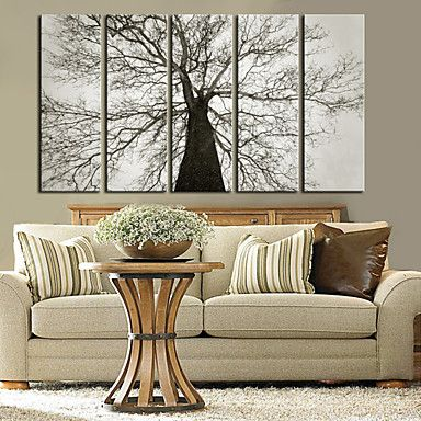 Stretched Canvas Art Botanical Old Tree Set of 5 - CAD $ 138.99
