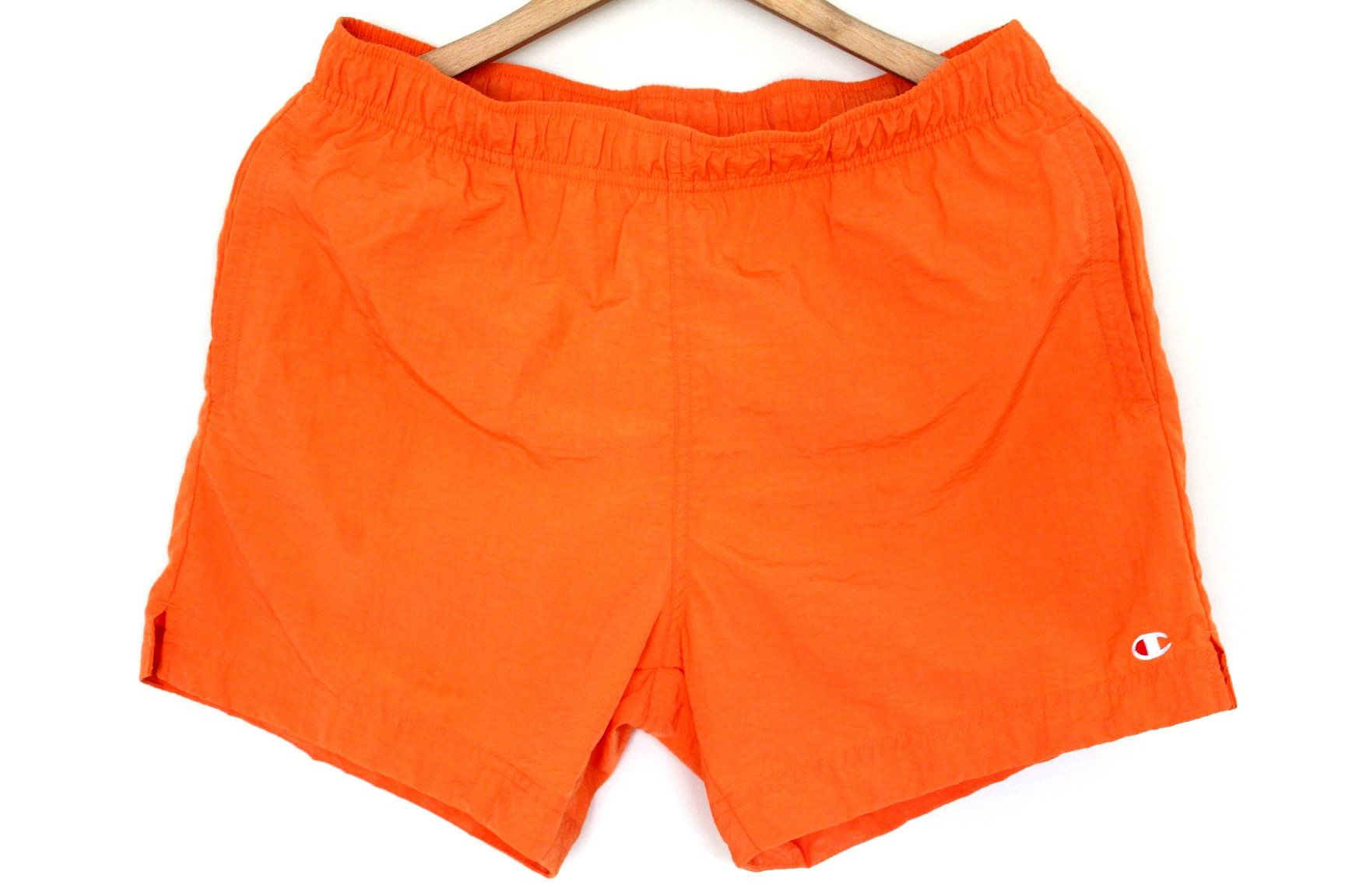 90 S Champion Shorts Vintage Champion Sport Shorts Orange Champion Pants Champion Beach Swimming Running Sho Vintage Champion Running Shorts Champion Sports