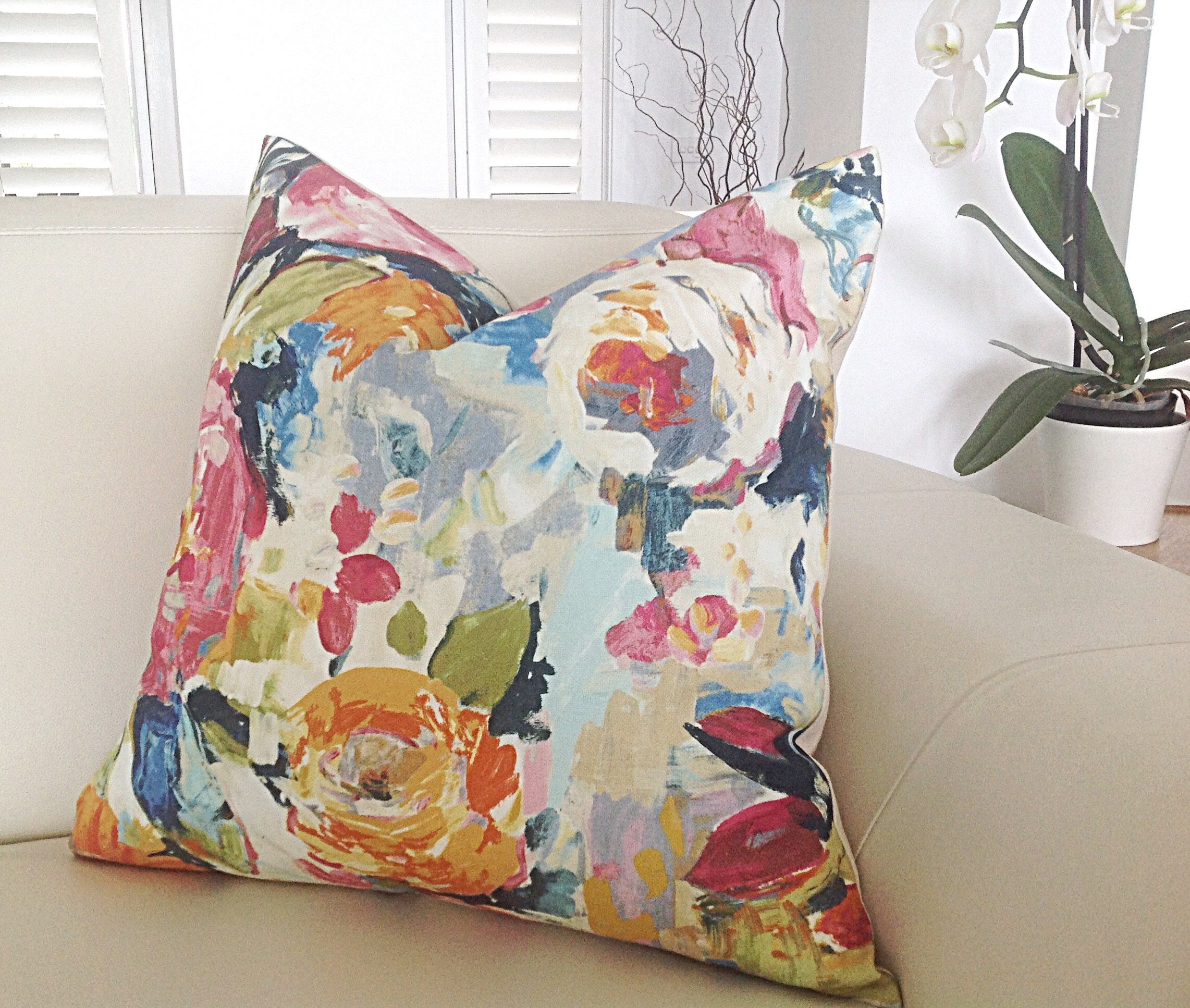 abstract floral cushions pillows