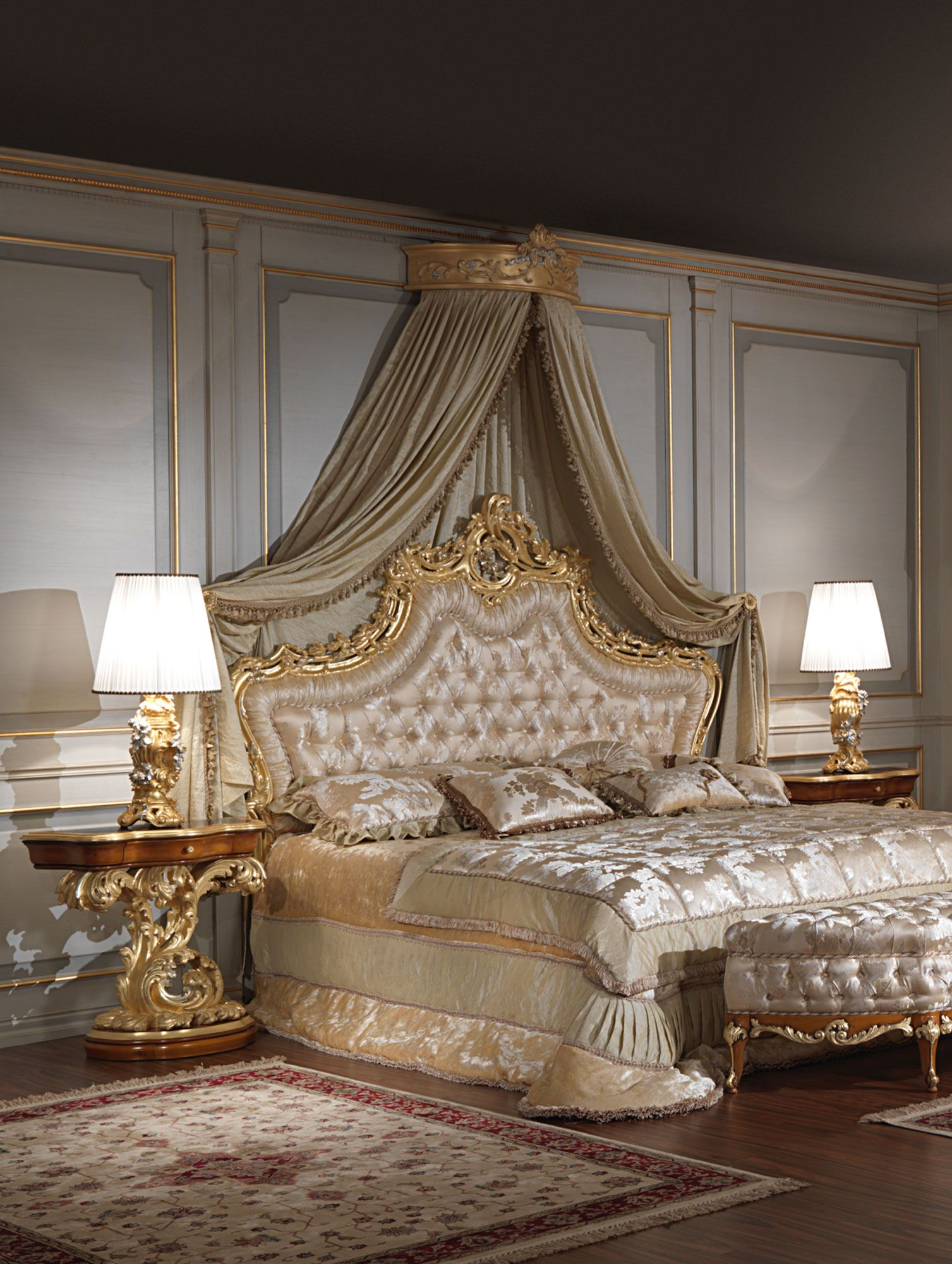 Luxury Classic Bedroom Roman Baroque Style Of The Seventeenth Century Baroque Toilette And Night T Classic Bedroom Luxurious Bedrooms Luxury Bedroom Furniture