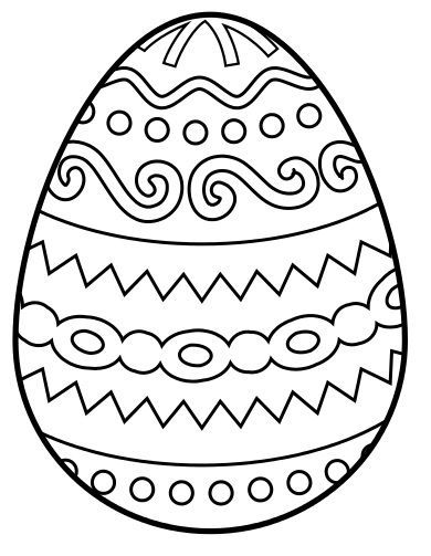 egg colouring pages easter crafts for toddlers - Easter Eggs Coloring Pages