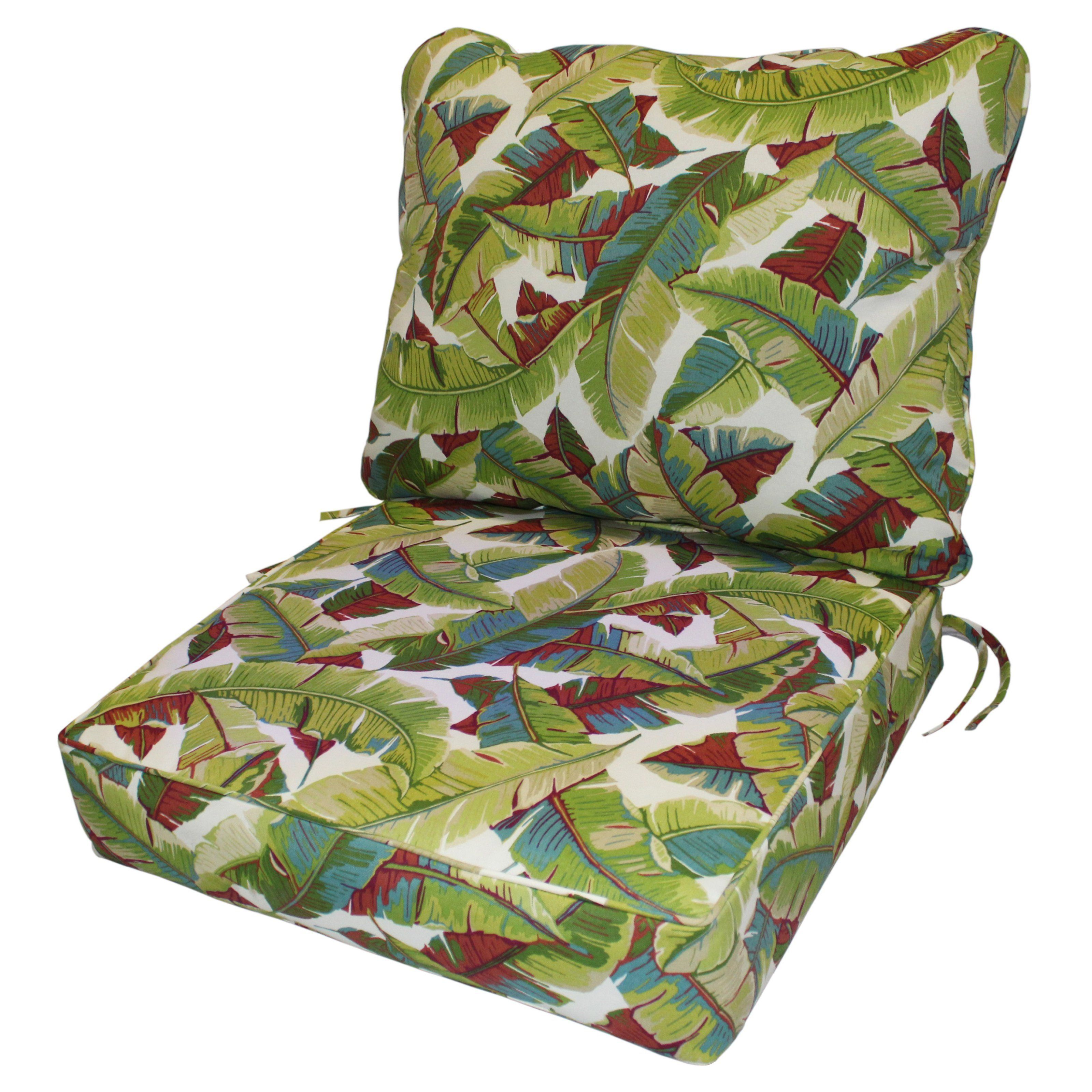 Greendale Home Fashions Deep Seat Cushion Set Palm Multi Oc7820 Palm Multi Deep Seat Cushions Outdoor Deep Seat Cushions Outdoor Cushions