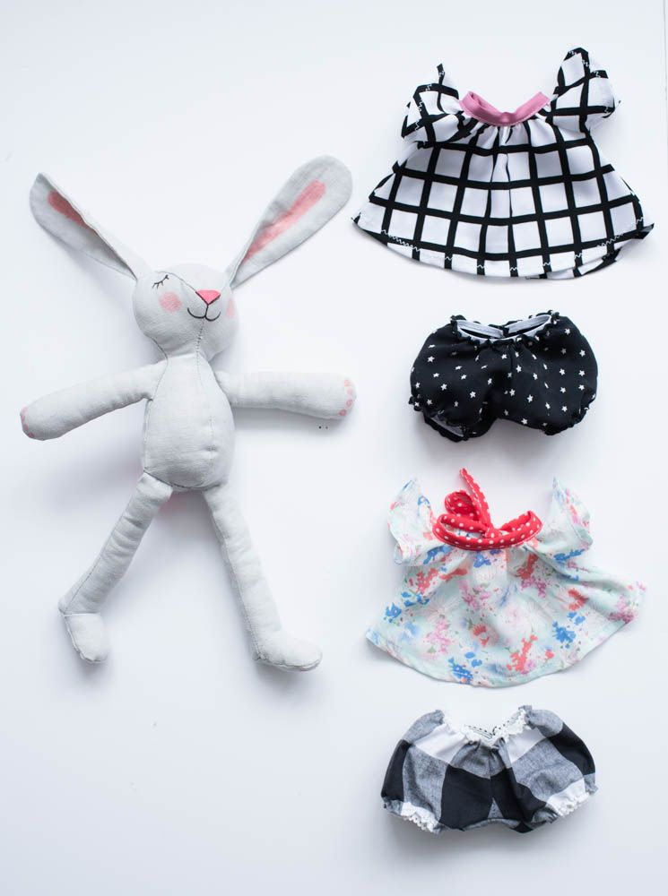 Spring Bunny Tip Top & Bloomers Pattern | Nähen und Stricken