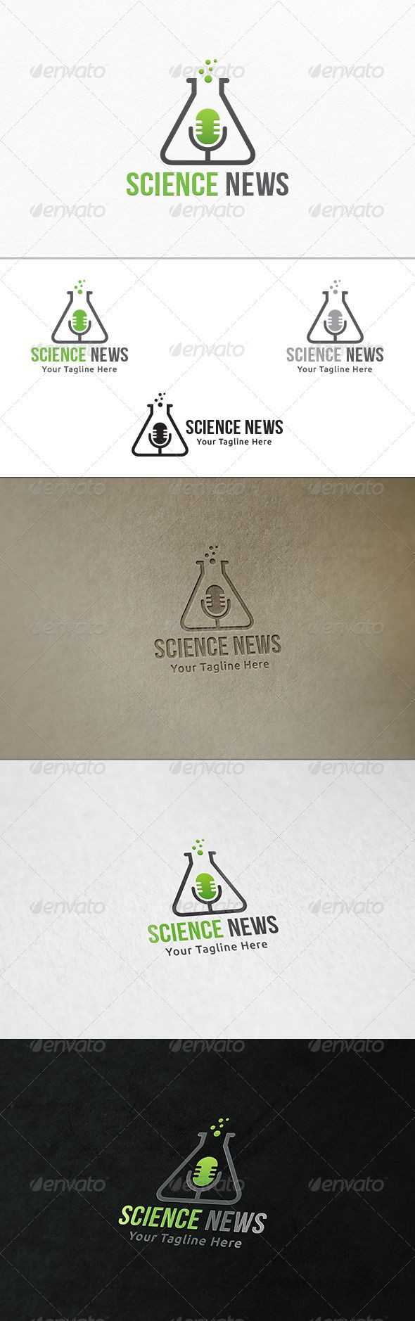 Science News - Logo Template | Pinterest | Logo templates, Logos and ...