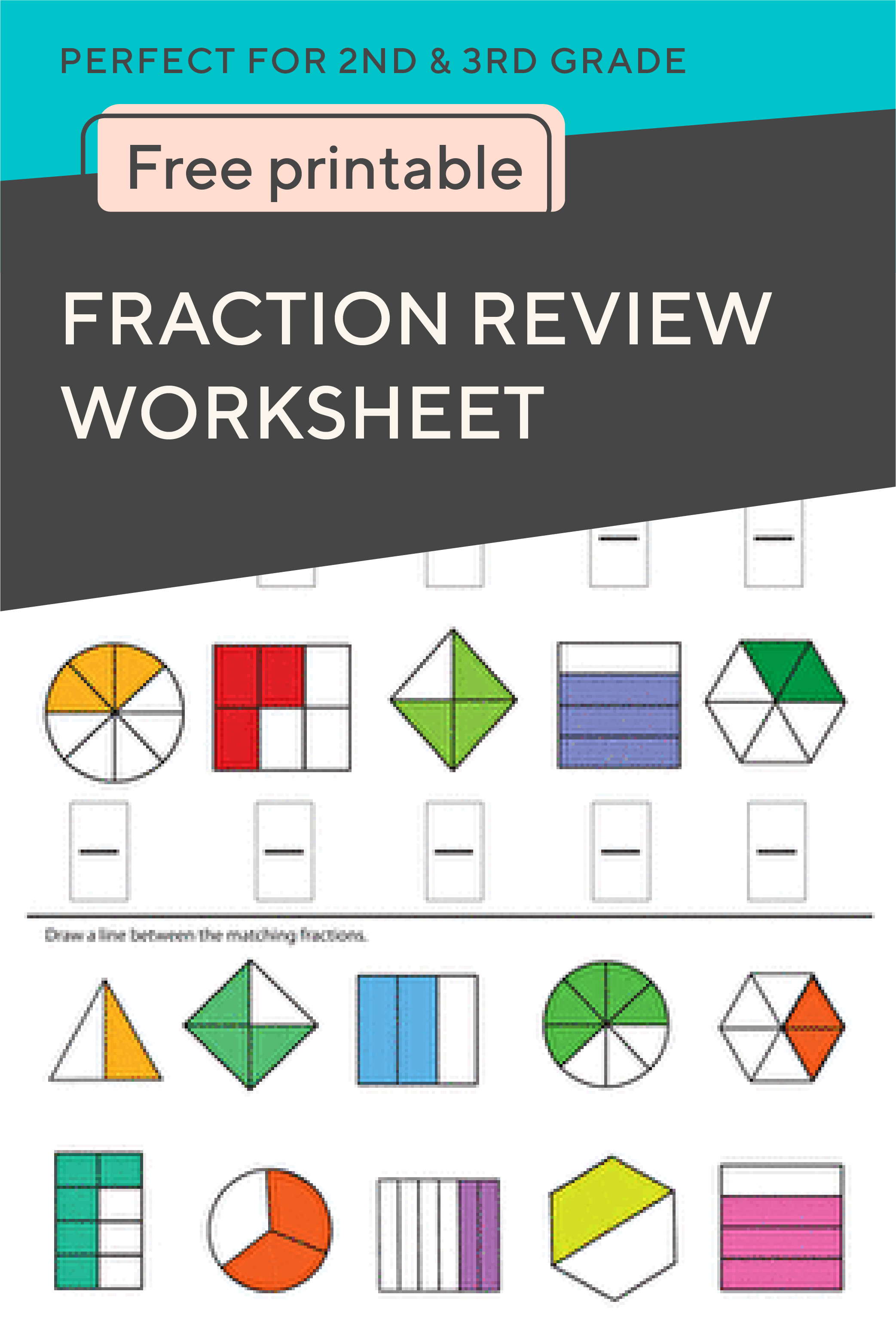 Fraction Practice Review Fractions With Your Second