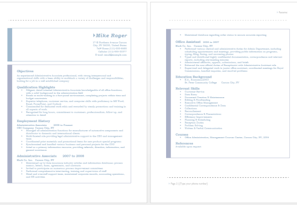 21 Free Administrative Assistant Resume Samples in MS Word