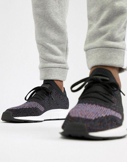 1a8dc7afc91d7 adidas Originals Swift Run Primeknit Sneakers In Black CQ2894 ...
