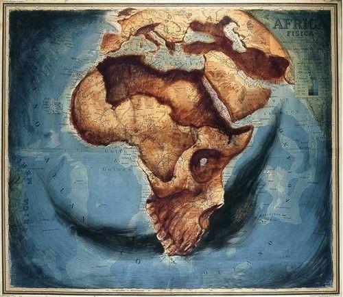 africa-map-skull