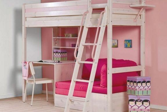 Lit Mezzanine Bureau Fauteuil Canape Chambre Ado Diy Bunk Bed