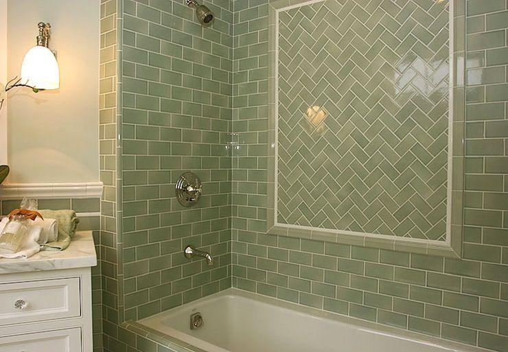 Sage Green Glass Subway Tile Glass Tile Bathroom Shower Tile Designs Shower Tile