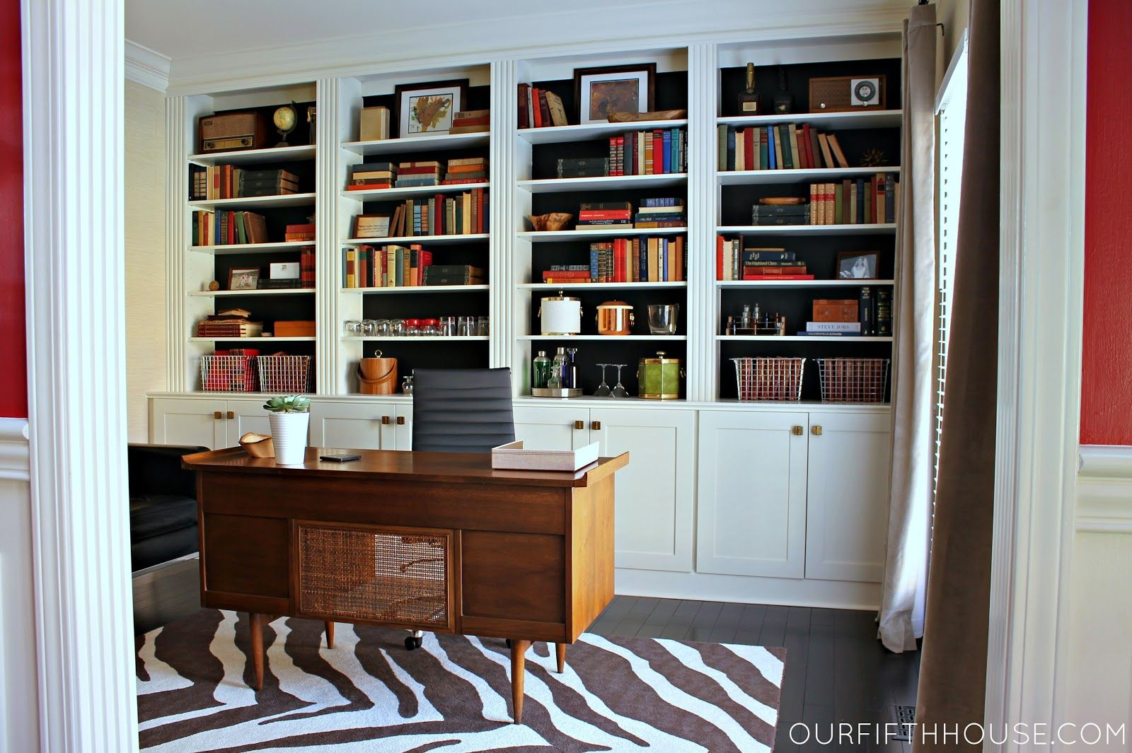 Genial Built In Home Office Bookcases Photos | Home Office With New Built In  Bookcases