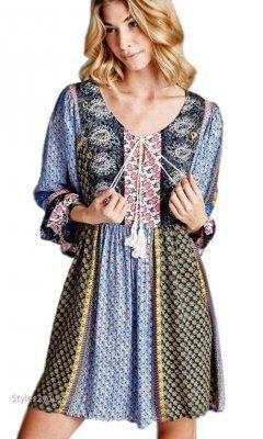 sawyer plus size bohemian shirt dress tunic in black velzera top