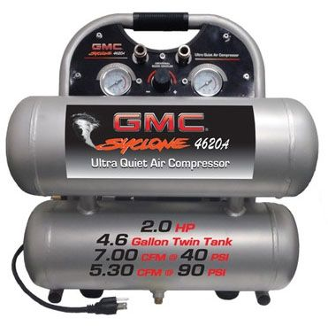 Gmc Syclone 4620a Ultra Quiet Oil Free Air Compressor Quiet