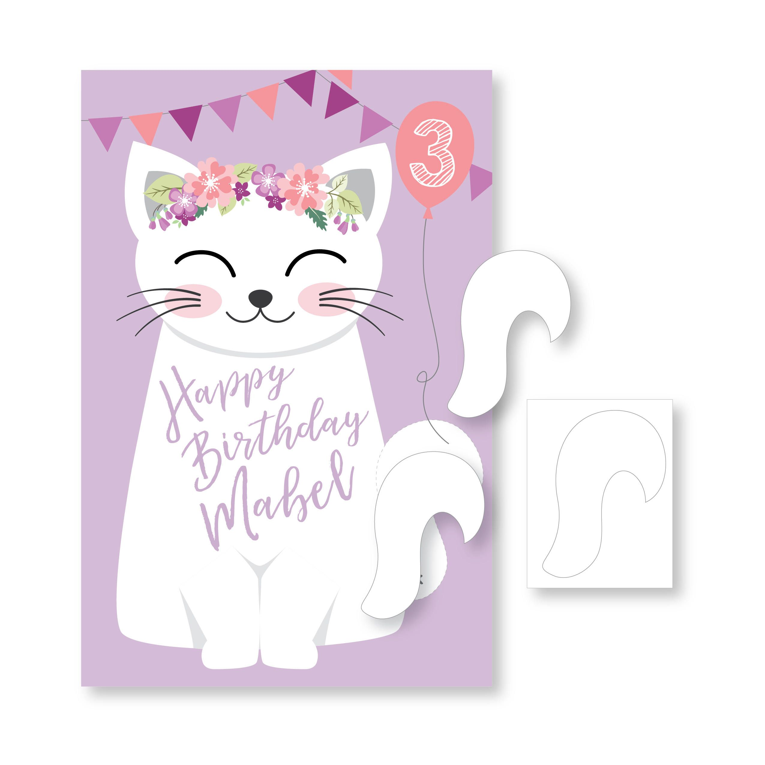 Pin the Tail on the Kitty / Cat party game DIY party