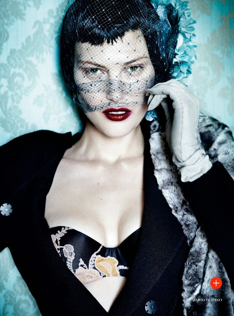 #CatherineMcNeil by #MarioTestino for #VogueUK September 2013