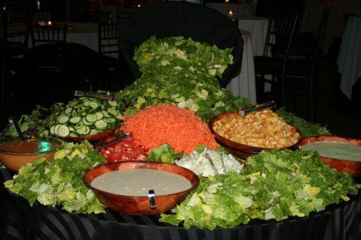 Cascading salad bar by catering by chef richard saladbar