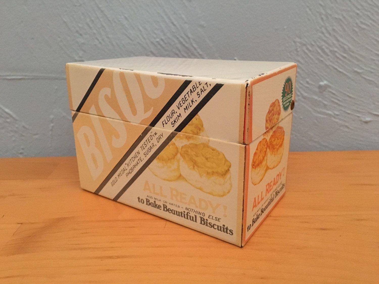 Free shipping bisquick recipe box metal recipe box by