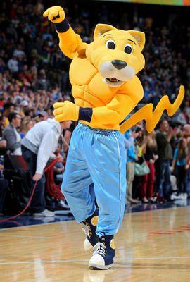 Denver Nuggets mascot, Rocky the Mountain Lion. | NBA Mascots | Pinterest | Denver Nuggets ...