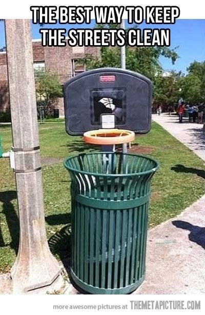 One way to help people use the bin!